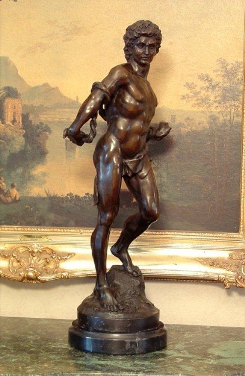 Adonis Greek God of Beauty Bronze Sculpture - 5