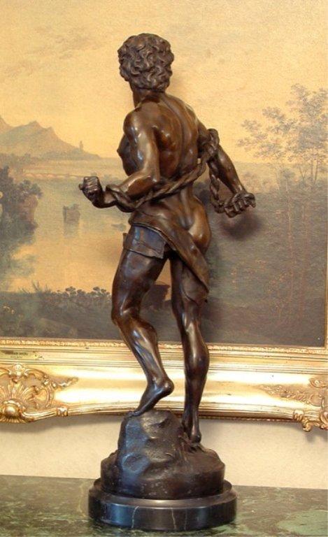 Adonis Greek God of Beauty Bronze Sculpture - 6