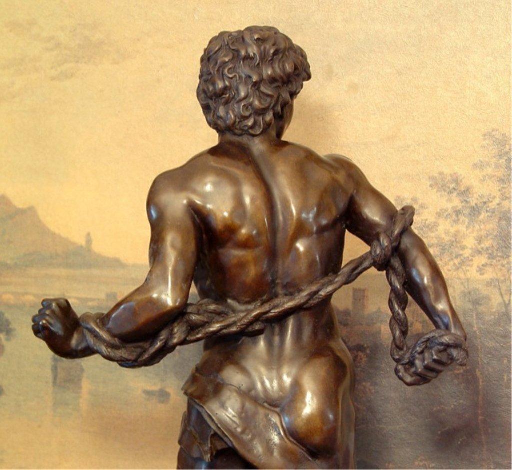 Adonis Greek God of Beauty Bronze Sculpture - 7
