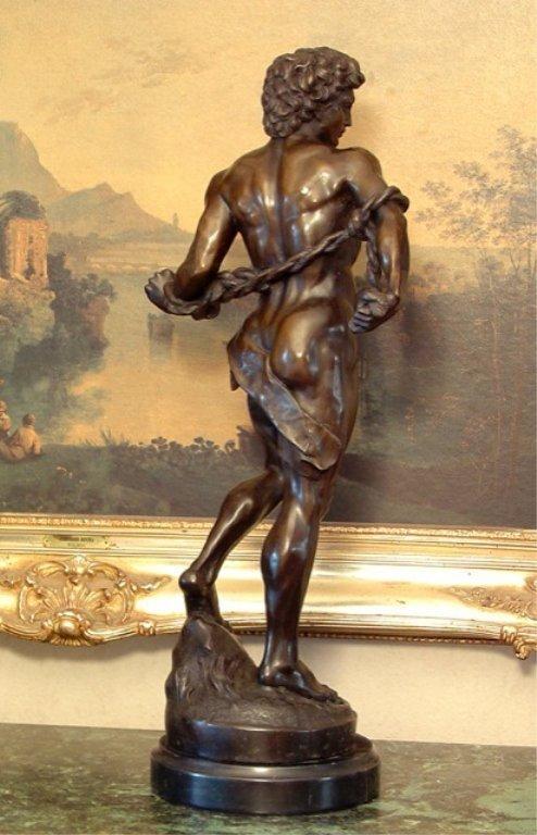 Adonis Greek God of Beauty Bronze Sculpture - 8