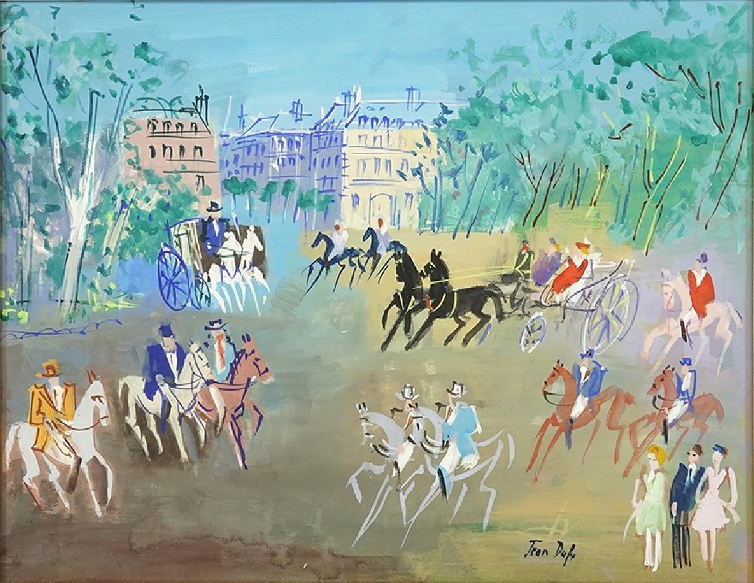 Jean Dufy (French, 1888-1964) Cavaliers au Parc.