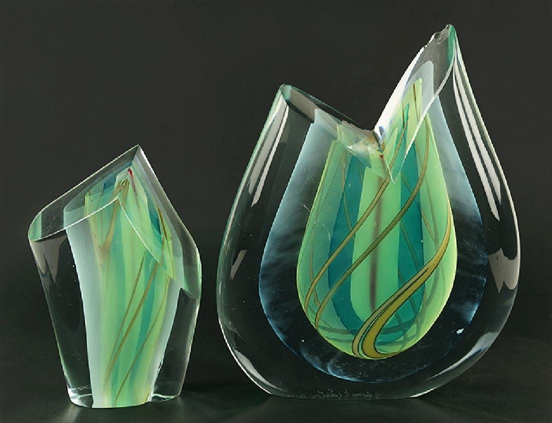Harvey K. Littleton (American, 1922-2013) Two Glass