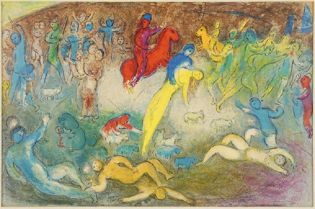 Marc Chagall (Russian/French, 1887-1985) Enlevement de