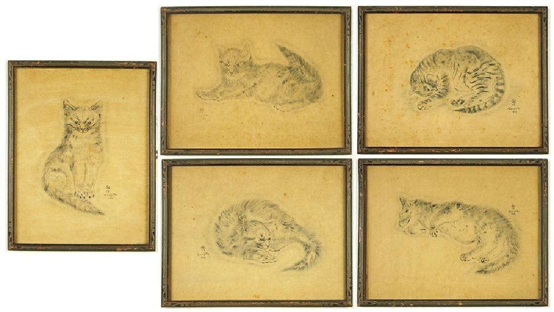 Tsuguharu Foujita (Japanese-French, 1886-1968) Five