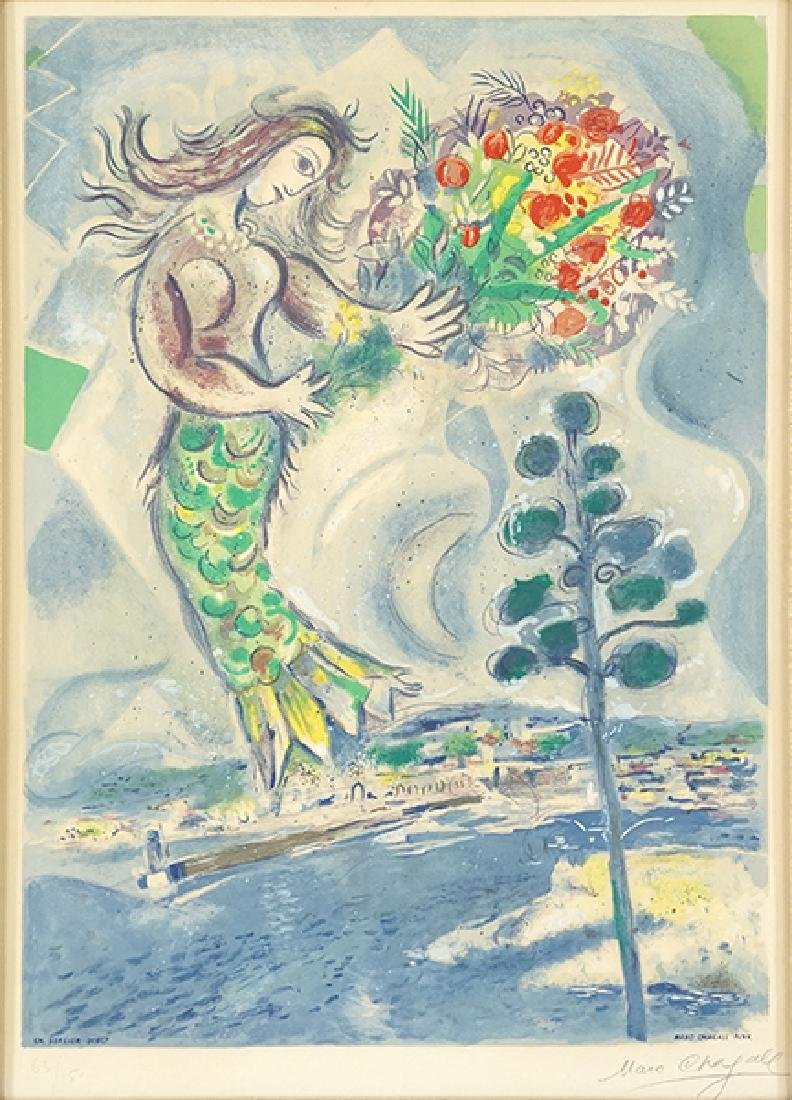 After Marc Chagall (Russian/French, 1887-1985) Sirene