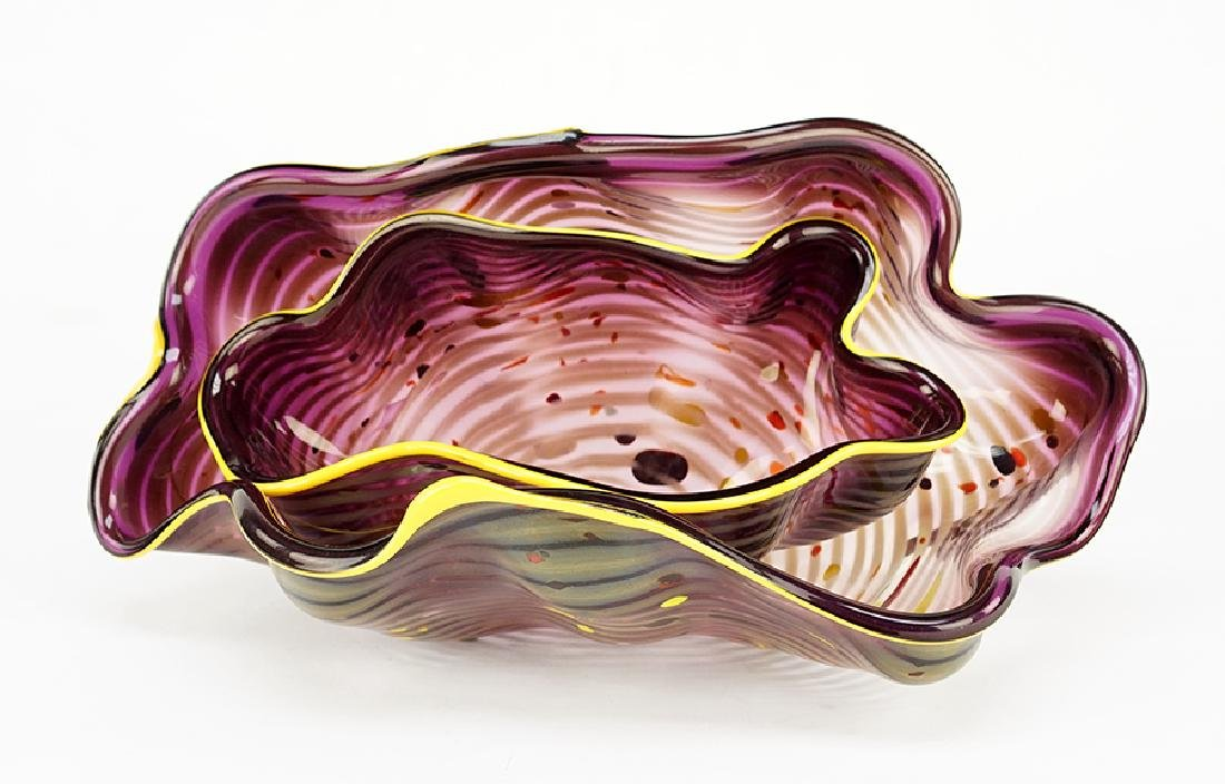 Dale Chihuly (American, B. 1941) Two-Piece Seaform