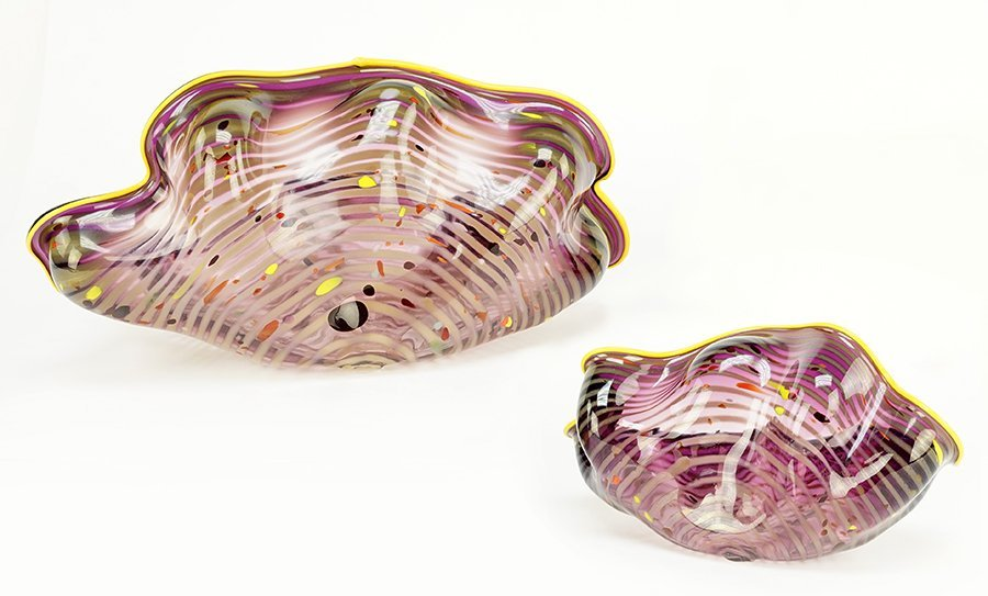 Dale Chihuly (American, B. 1941) Two-Piece Seaform - 3