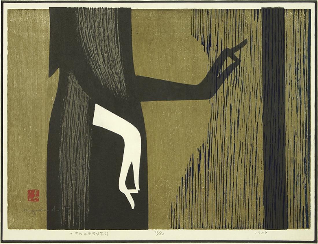 Kiyoshi Saito (Japanese, 1907-1997) Tenderness.