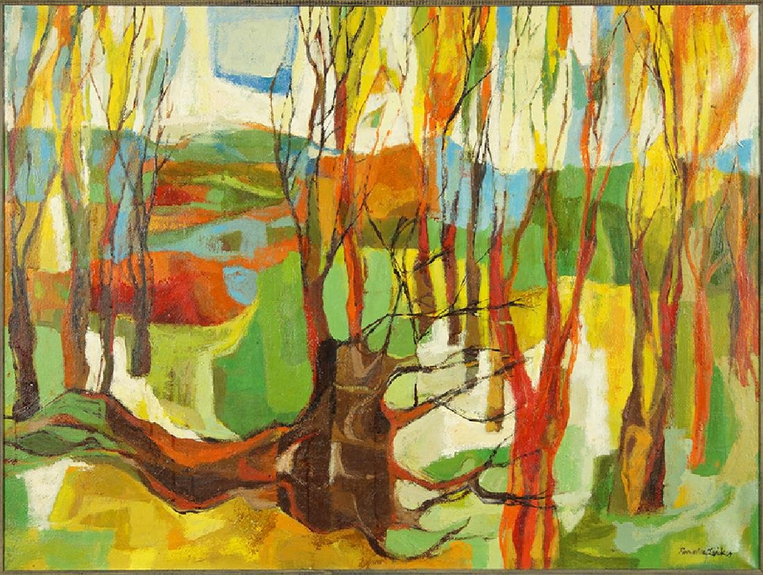 Rosemary Zwick (American, 1925-1995) Thin Trees.