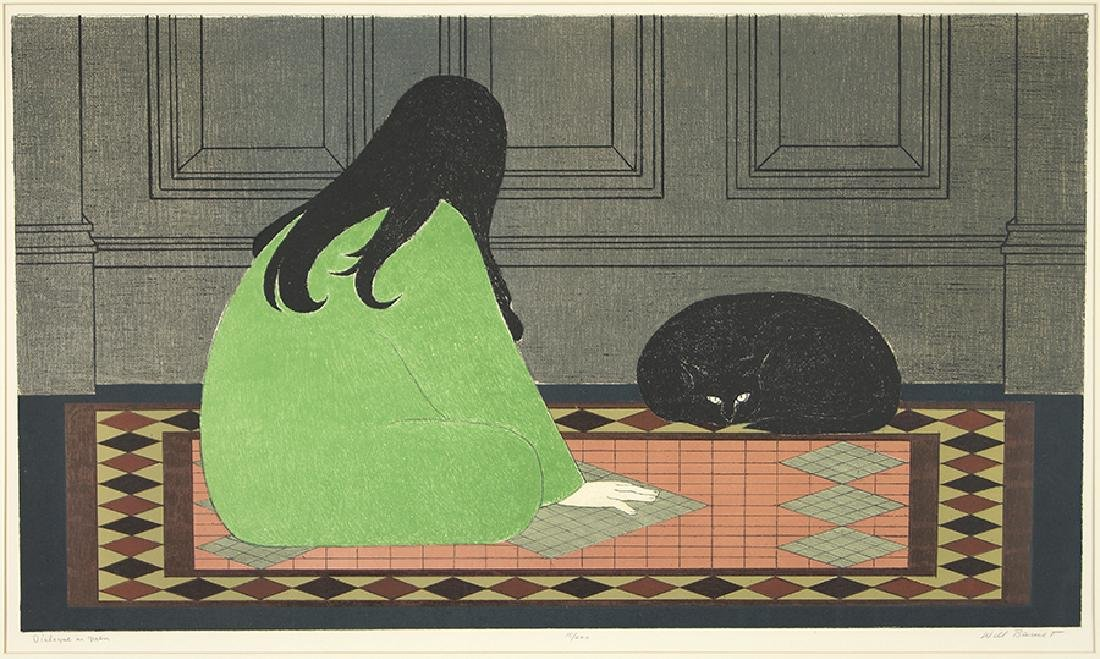 Will Barnet (American, 1911-2012) Dialogue in Green.