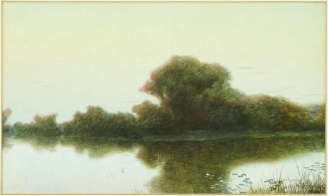 Milne Ramsey (American, 1847-1915) Sunset Reflections.