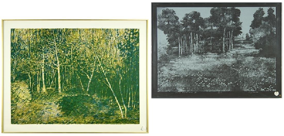 Dan Ziembo (American, B. 1941) Two Works.