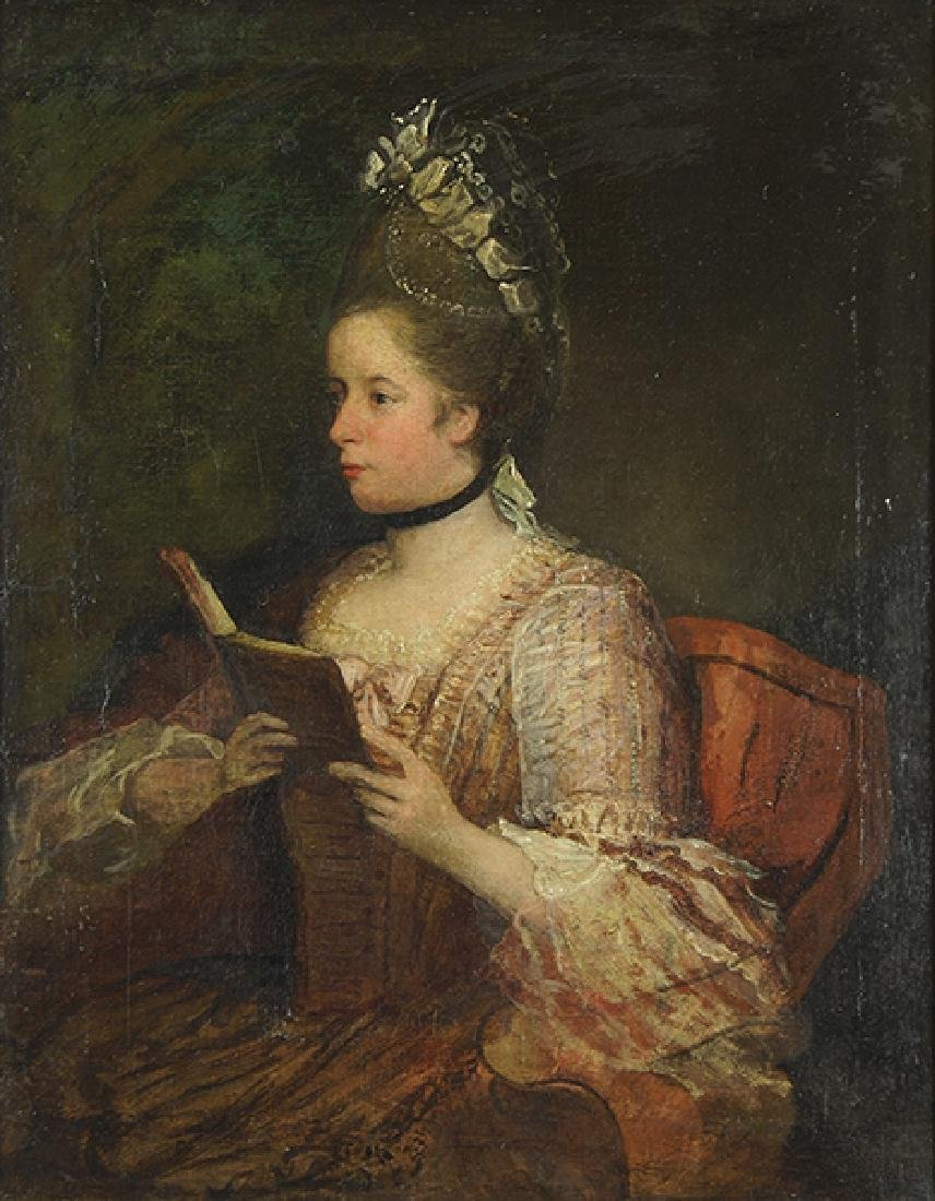 Artist Unknown (French, 19th Century) A Lady Reading.