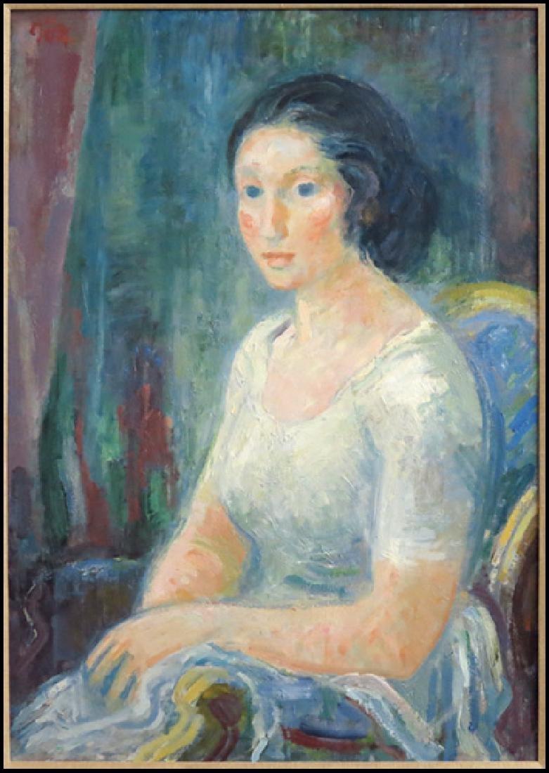 Hans Gott (German 1883-1973) Portrait of Woman.