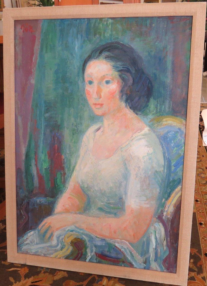 Hans Gott (German 1883-1973) Portrait of Woman. - 2