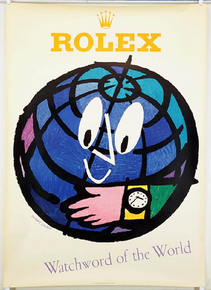 Herbert Leupin (Swiss, 1916-1999) Rolex: Watchword of