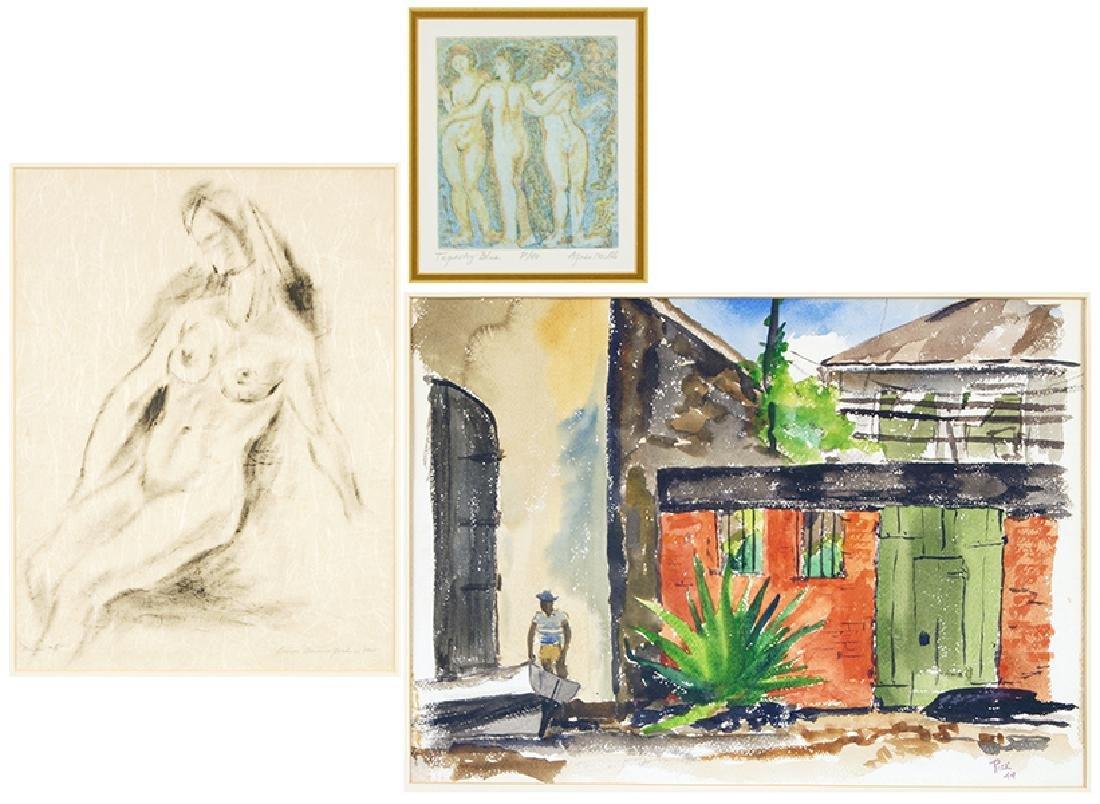 Louise Dunn Yochim (American, 1909-2003) Nude #5.