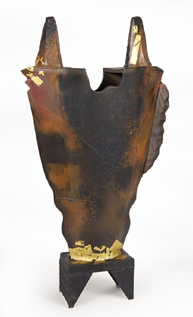 George Whitten (American, Contemporary) Raku Pottery