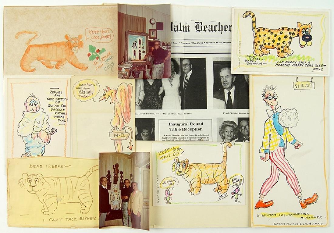 Orville Bulman (American, 1904-1978) Seven Drawings.