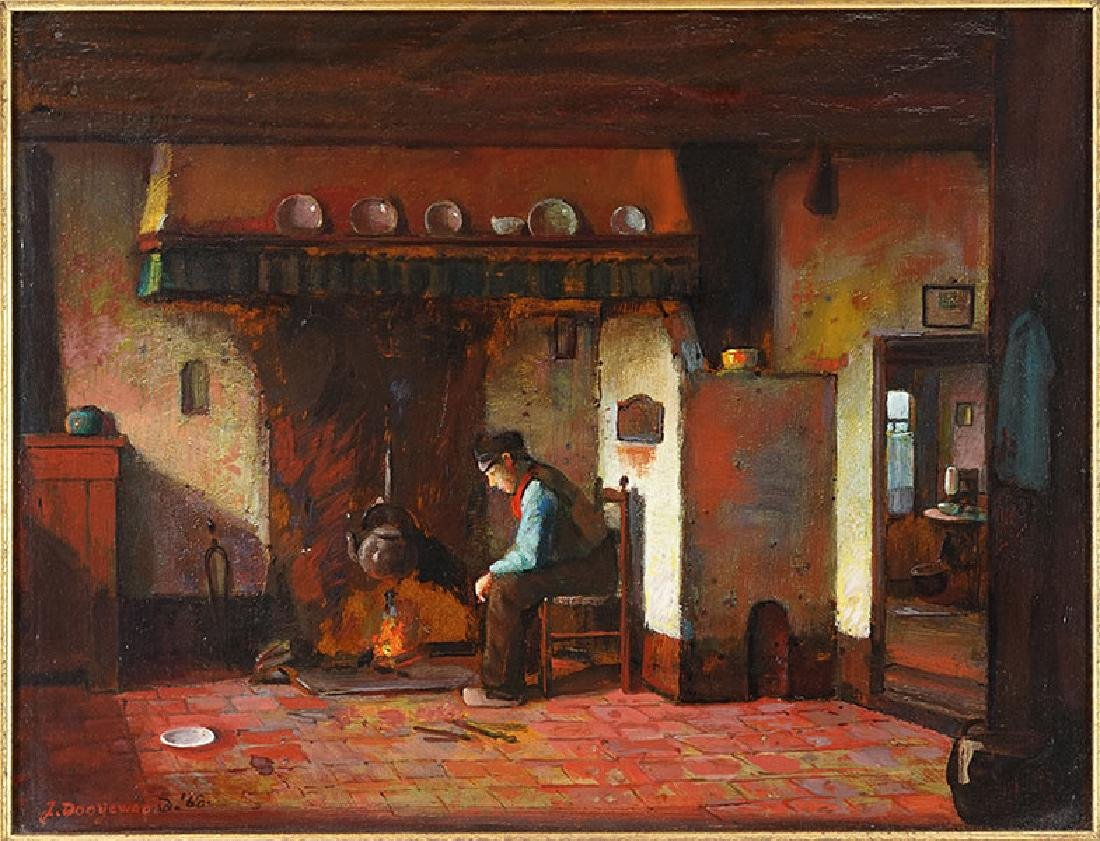 Jacob Dooijewaard (Dutch, 1876-1969) In the Kitchen.