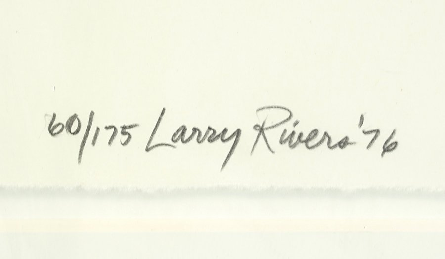 Larry Rivers (American, 1923-2002) Big B Signs Up. - 2