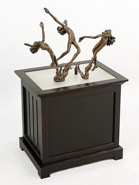 Victor Salmones (Mexican, 1937-1989) Three Figures. - 2