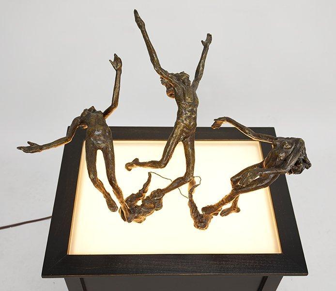 Victor Salmones (Mexican, 1937-1989) Three Figures. - 3