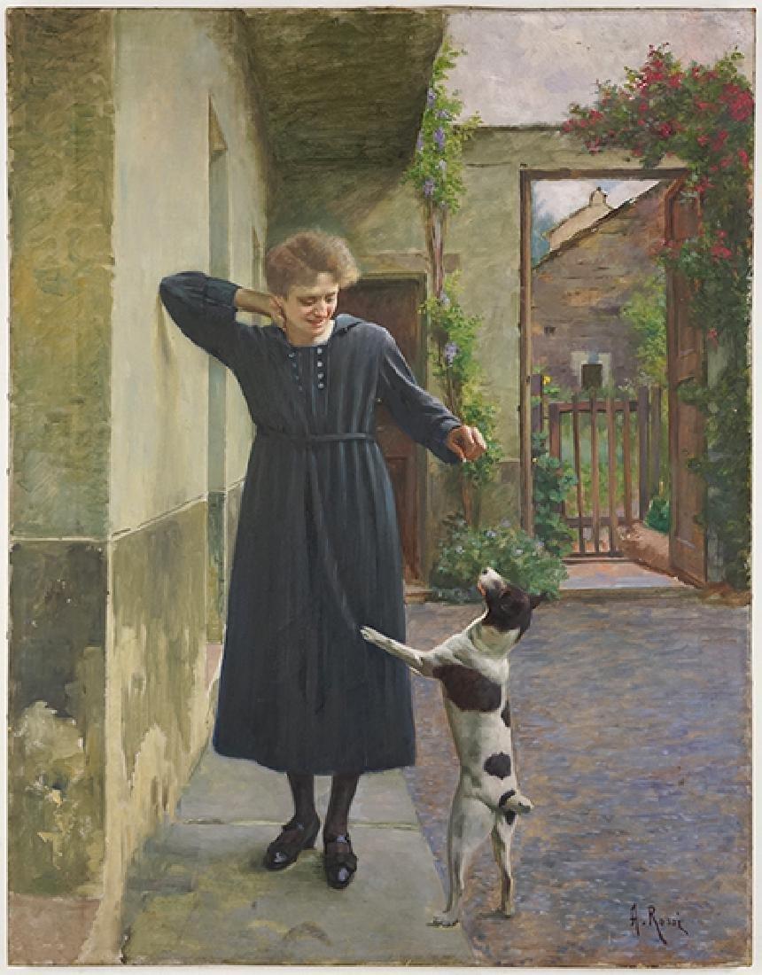 Alexander Mark Rossi (British, 1840-1916) The Treat.