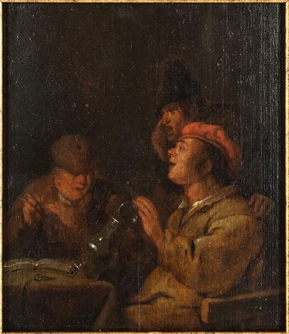 Circle of Adrian Brouwer (Flemish, 1605-1638) Three Men