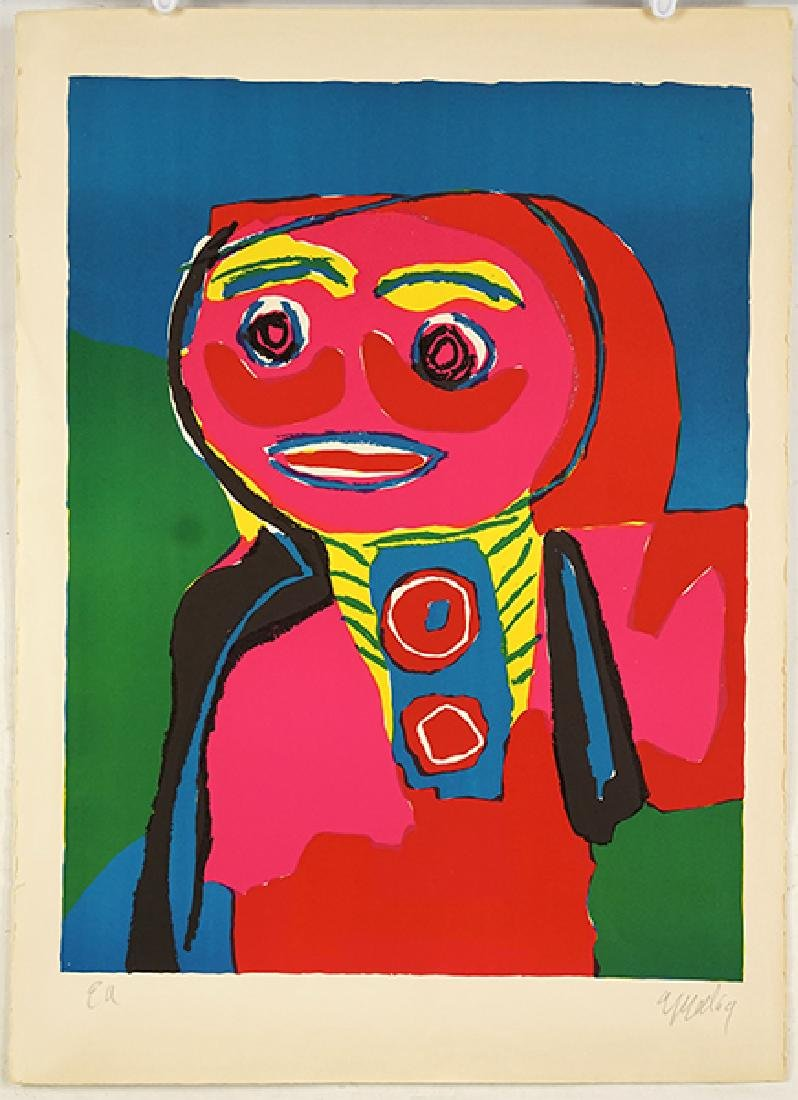Karel Appel (Dutch, 1921-2006) Personnage.