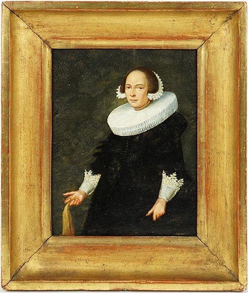 Dutch School (17th Century) Portrait of a Lady. - 2