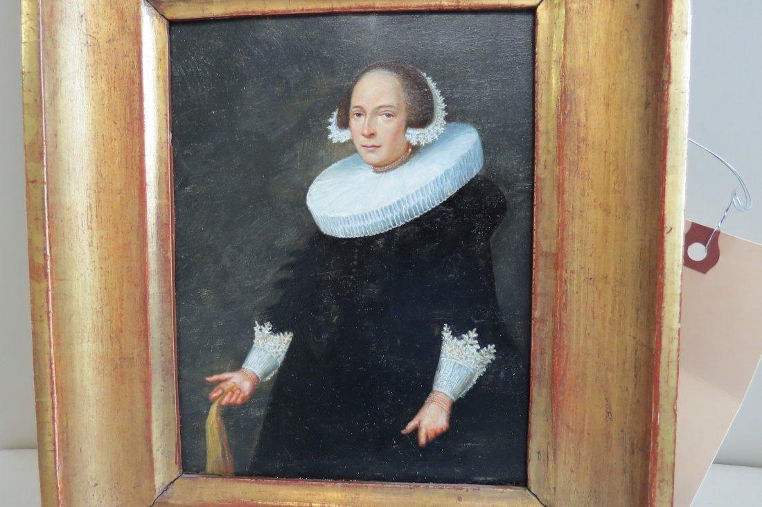 Dutch School (17th Century) Portrait of a Lady. - 4