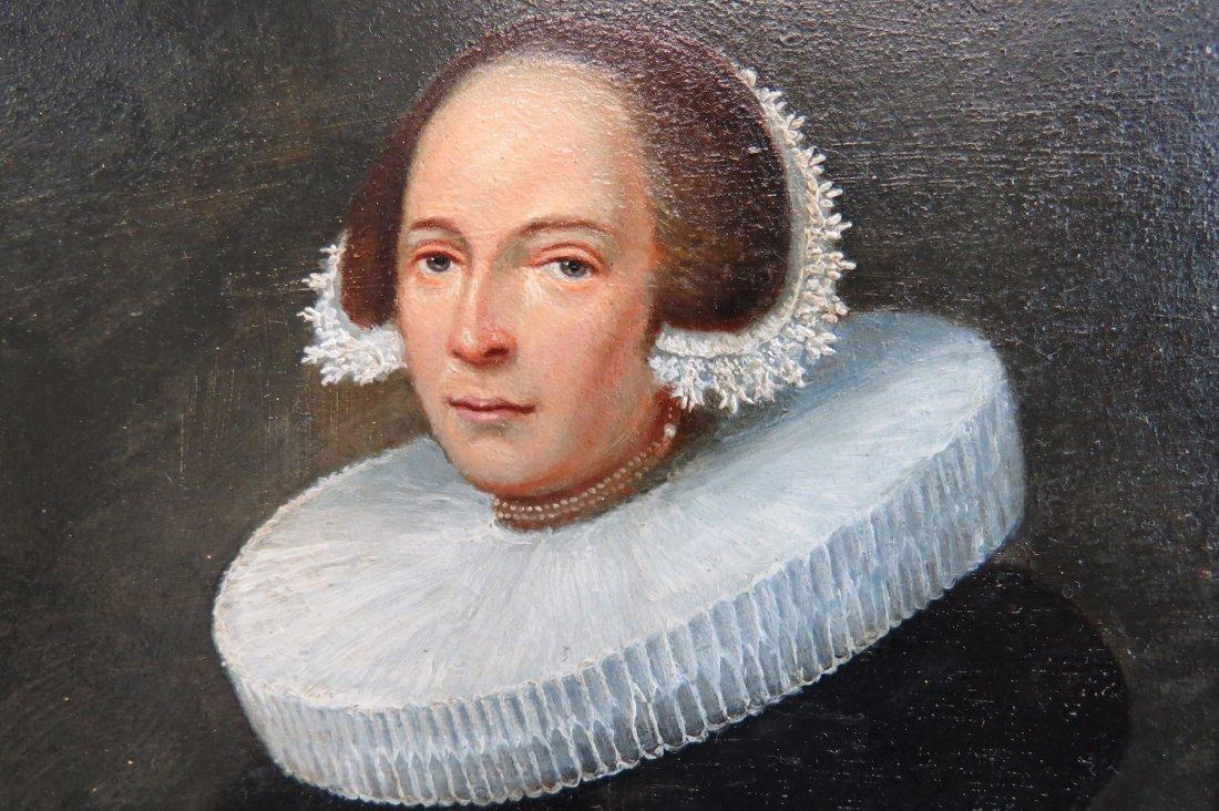 Dutch School (17th Century) Portrait of a Lady. - 5