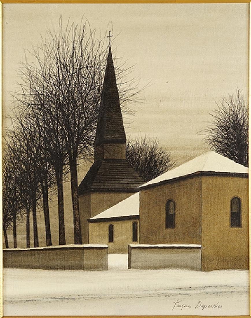 Jacques Deperthes (French, b. 1936) La Chapelle.