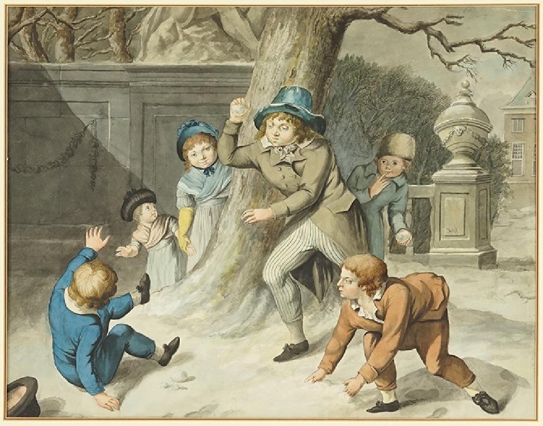 Artist Unknown (Continental, 19th Century) Snowball