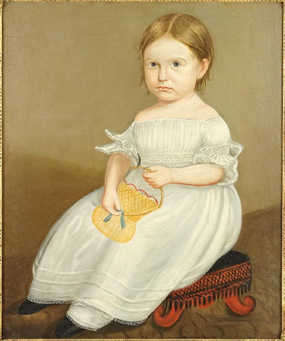 Artist Unknown (American, 19th Century) A Little Girl