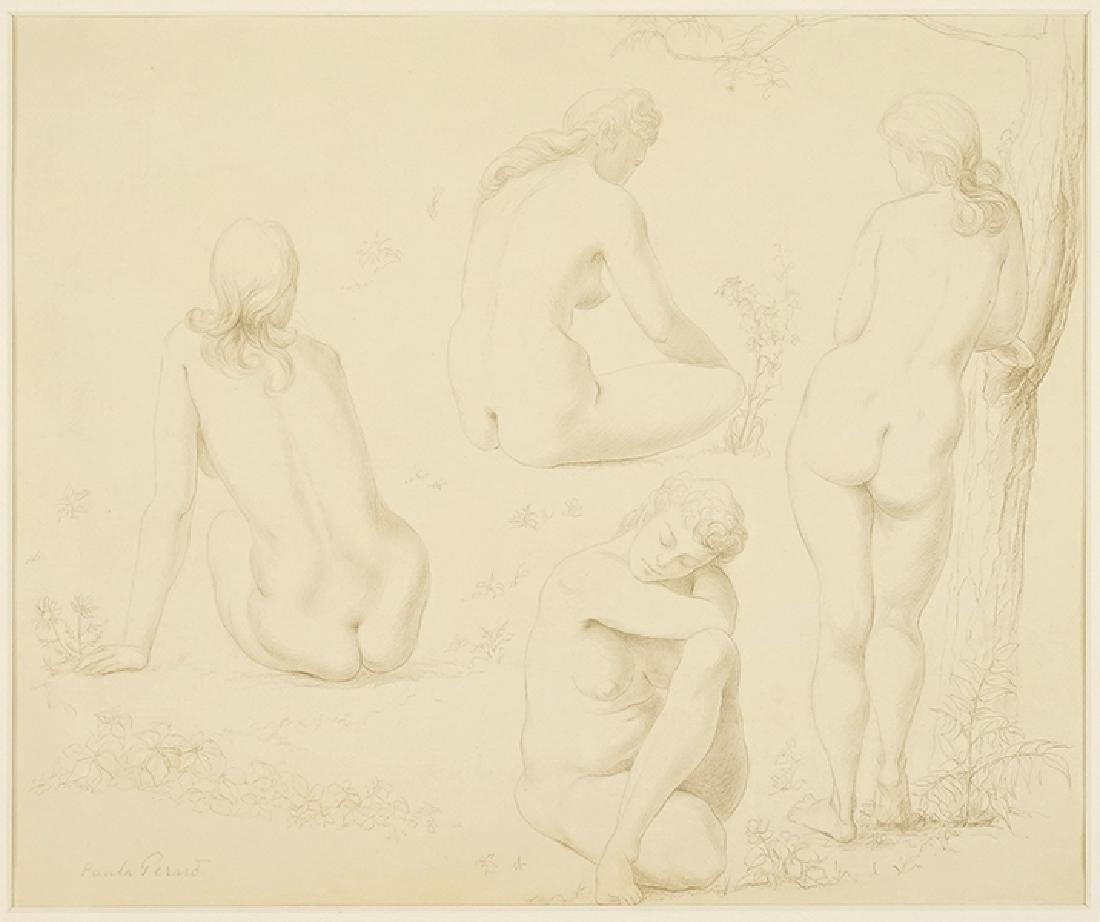 Paula Gerard (American, 1907-1991) Four Nudes.
