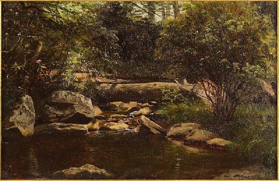 Artist Unknown (American, 19th Century) Forest Brook.