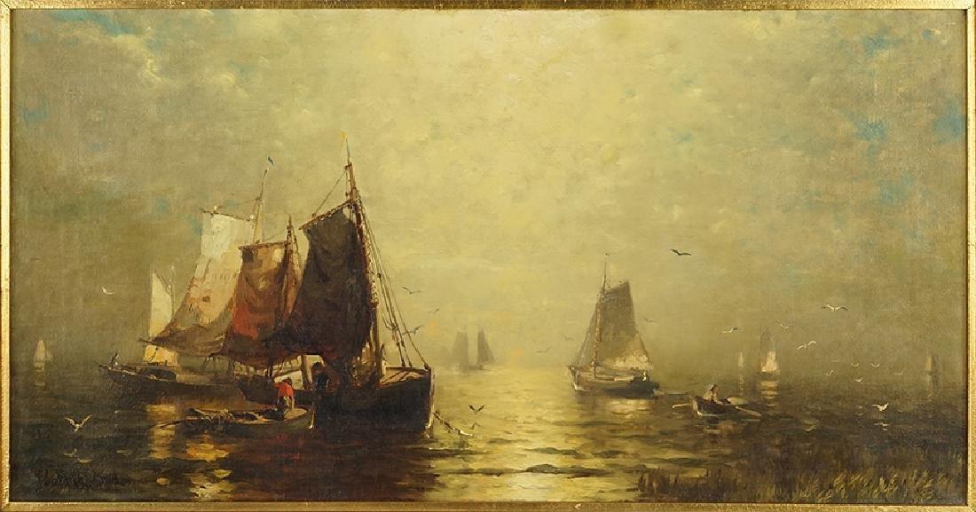 George McCord (American, 1848-1909) Fishing Boats.