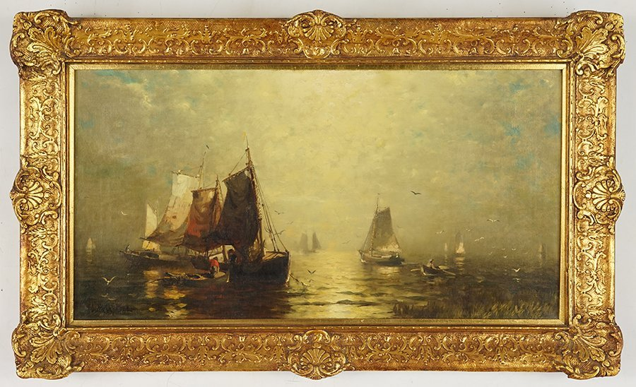 George McCord (American, 1848-1909) Fishing Boats. - 2