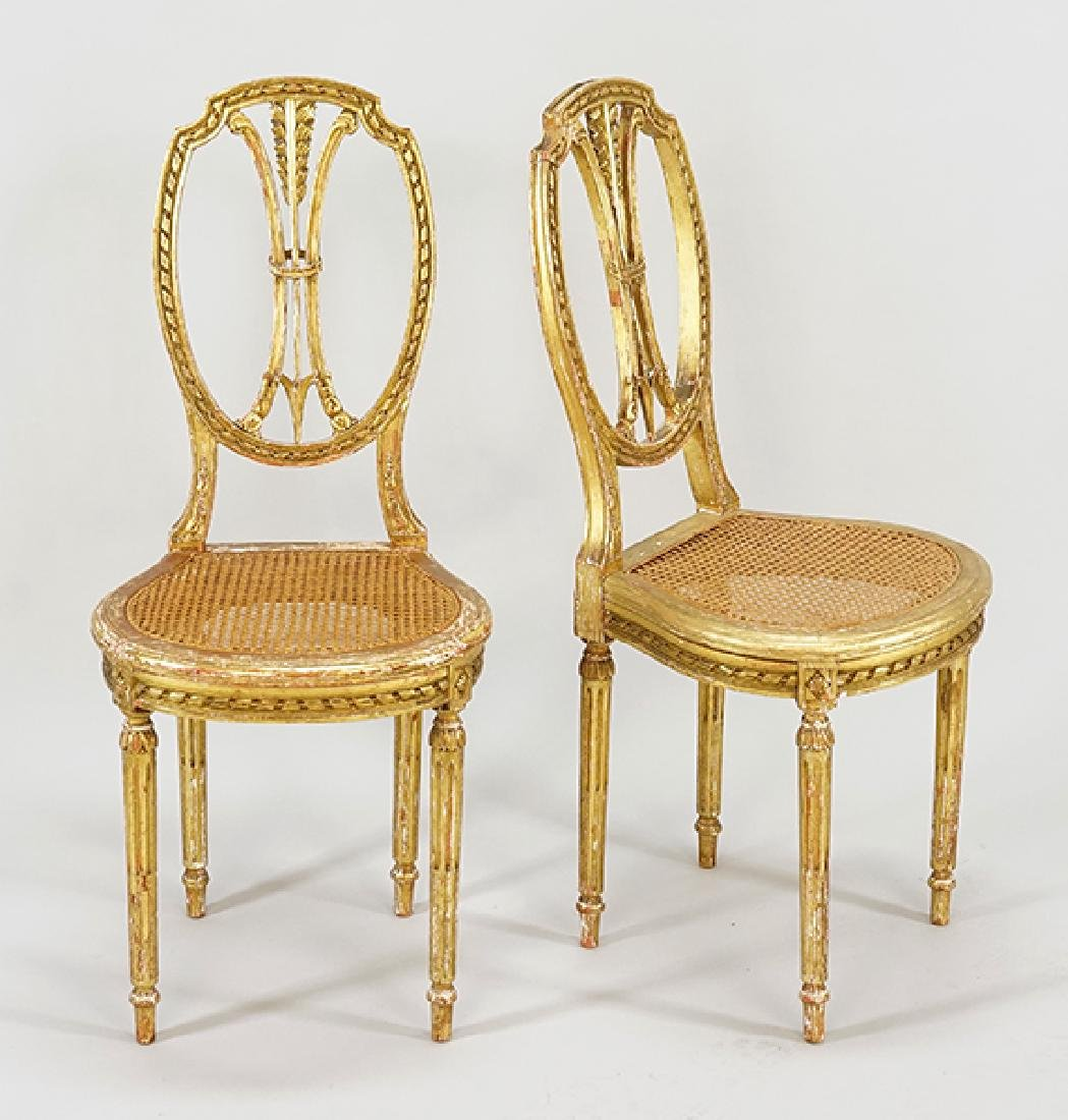A Pair of French Side Chairs.