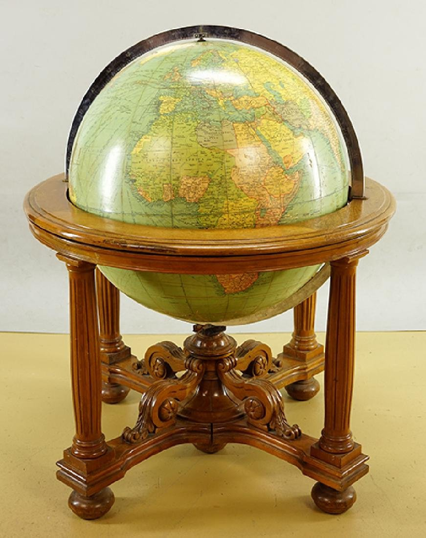A Philips Globe In Stand.