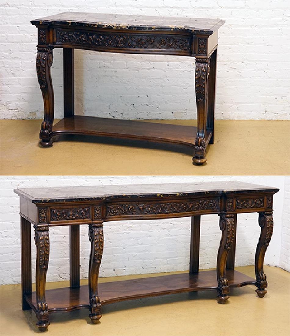 A Renaissance Revival Carved Oak Sideboard.