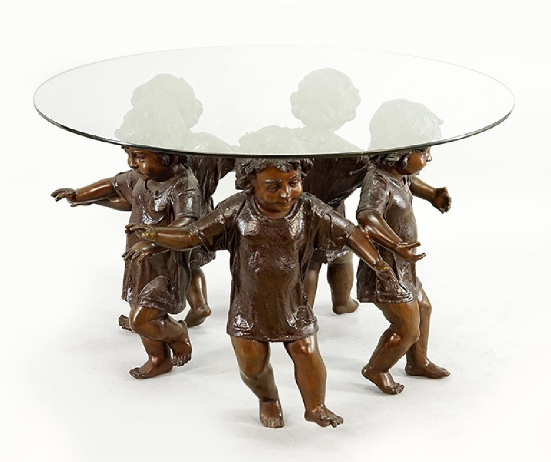 A Figural Center Table.