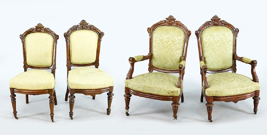 A Set of Four Eastlake Chairs.
