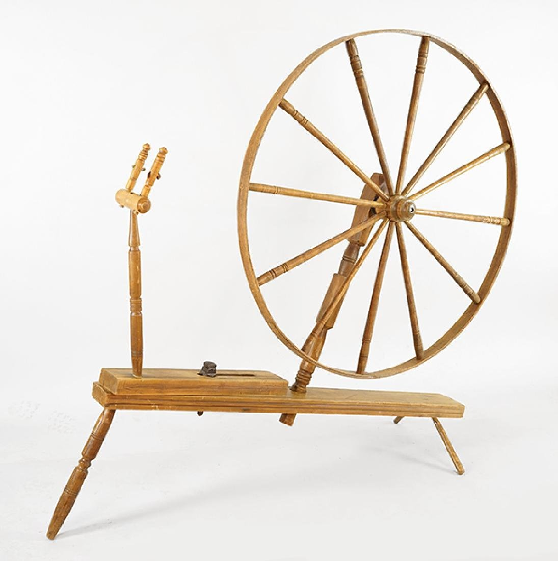 An American Spinning Wheel.
