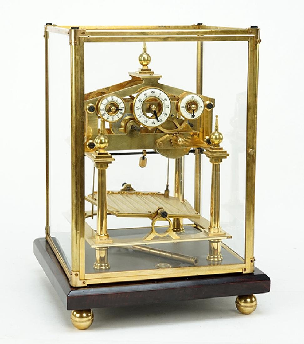 An English Brass Clock.