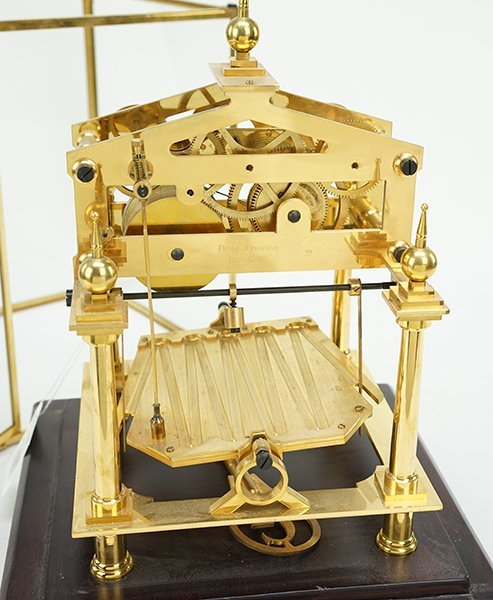 An English Brass Clock. - 3