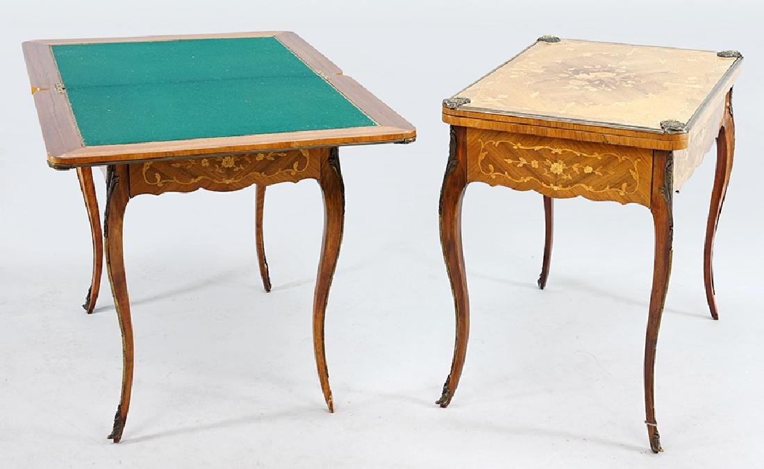 A Pair of Continental Games Tables.