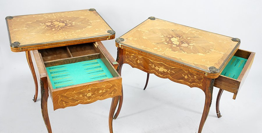 A Pair of Continental Games Tables. - 2